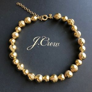 J. Crew gold ball necklace